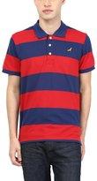 American Crew Men's Premium Pique Stripes Polo T-Shirt- XL (AC256-XL)