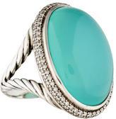 David Yurman Chalcedony and Diamond Signature Ring