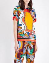Emilio Pucci Archive-print silk-twill top
