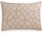 Hotel Collection Textured Lattice Linen King Sham, Created for Macy's