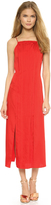 Cédric Charlier Pleated Split Hem Dress