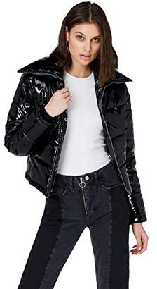 Puffa find. Women's Jacket in High-Shine Puffa,(Manufacturer size: Medium)