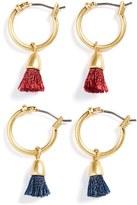 Madewell Women's Tassel Hoop Earrings (Set Of 2)