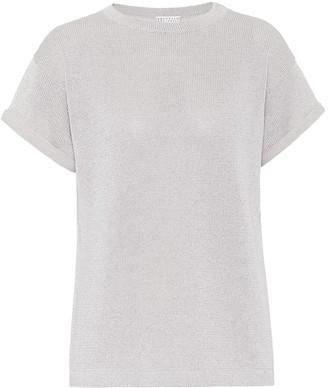 Brunello Cucinelli Cotton-blend knit T-shirt