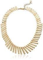"Robert Lee Morris Tricolore Cs Gold Collar Necklace, 17"" + 2"" Extender"