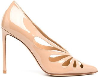 Francesco Russo Pointed Patent 105mm Pumps