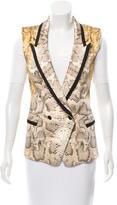 Roberto Cavalli Silk Printed Vest