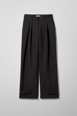 Weekday Parker Trousers - Black