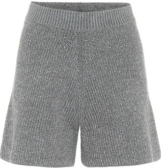 Alanui Space Invaders wool-blend shorts
