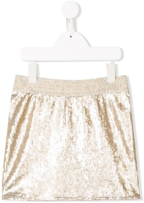 Karl Lagerfeld Paris Embroidered Mini Skirt