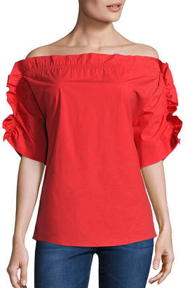 Peserico Ruffle Off-The-Shoulder Top
