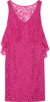 Theia Layered lace dress