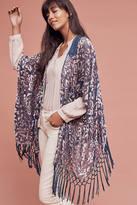 Anthropologie Crocheted Velvet Kimono