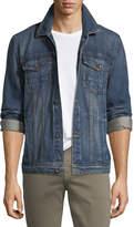 7 For All Mankind Men's Cotton Denim Trucker Jacket