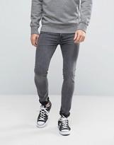 Levis 519 Extreme Skinny Fit Jean Propaganda Grey Acid Wash