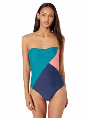 Jessica Simpson Women's One-Piece Bandeau Swimsuit Bathingsuit