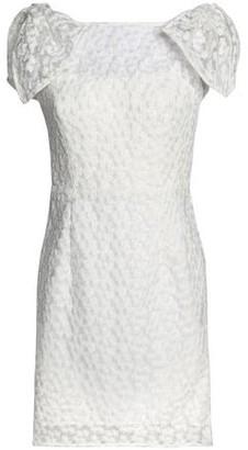 Milly Floral-appliqued Gauze Mini Dress