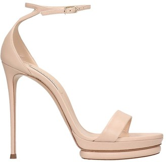 Casadei Sandals In Powder Leather