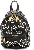 Moschino floral embellished backpack - women - Calf Leather/metal - One Size