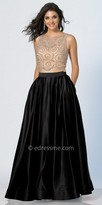 Dave and Johnny Two Piece Fully Beaded A-line Prom Dress with Side Pockets