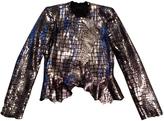 Isabel Marant Silver Leather Jacket