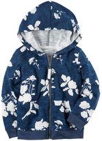 Carter's Floral French Terry Zip-Up Hoodie