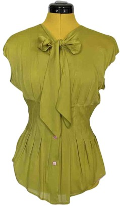 Paul Smith Green Silk Top for Women
