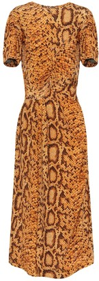 Preen by Thornton Bregazzi Daliz snake-print dress