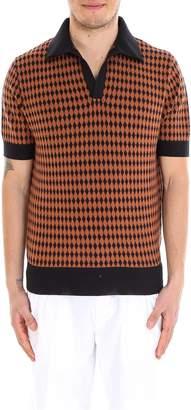 Doppiaa Geometric Patterned Polo Shirt