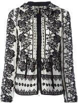 Moncler floral embroidered hooded jacket
