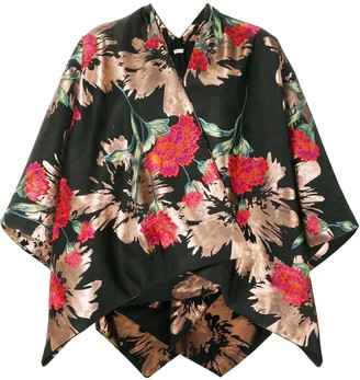 Ermanno Gallamini Floral Print Kimono Jacket