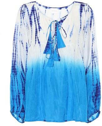 Anna Kosturova Exclusive to Mytheresa Tie-dye silk top