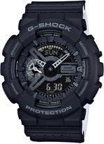 G-Shock Men's Analog-Digital Black/White Dual Layer Resin Strap Watch 51x55mm GA110LP-1A