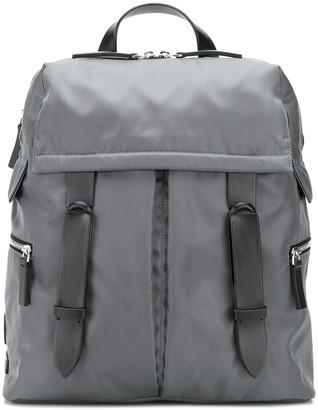 Orciani Double Buckle Medium Backpack