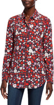 Equipment Essential Floral Button-Down Silk Shirt
