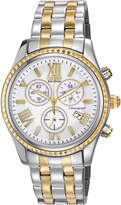 Citizen 40mm Two-Tone Chronograph Bracelet Watch, White