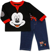Nannette 2-Pc. Mickey Mouse Top and Jeans Set, Baby Boys (0-24 months)