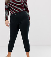 Asos DESIGN Curve ankle length stretch skinny pants with zip side pockets
