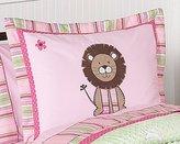 JoJo Designs Pink and Green Jungle Friends Girls Pillow Shams by Sweet