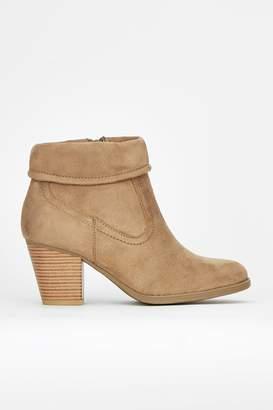 Wallis Taupe Fold Cuff Boot