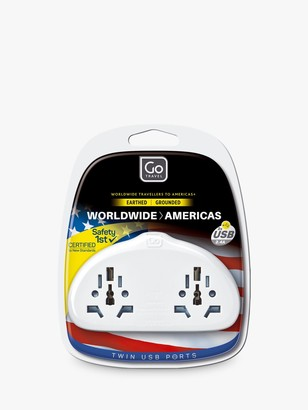 Go Travel Duo USB World to USA Travel Adaptor
