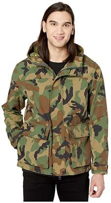 J.Crew Brunswick Rain Jacket in Camo (Dark Khaki Brown) Men's Clothing