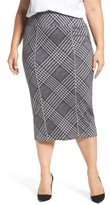 Melissa McCarthy Plus Size Women's Plaid Pencil Skirt