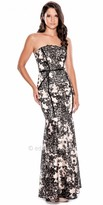 Decode 1.8 Floral Strapless Fitted Evening Gown