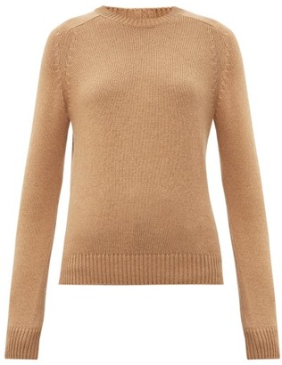 Saint Laurent Round-neck Camel-hair Sweater - Camel