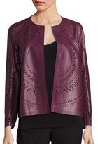 Lafayette 148 New York Callia Leather Laser-Cut Jacket