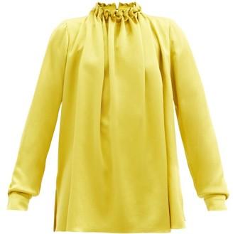 Roksanda Ymara Knotted-neck Silk-satin Blouse - Gold