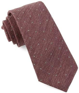 Tie Bar Redwood Dot Raspberry Tie