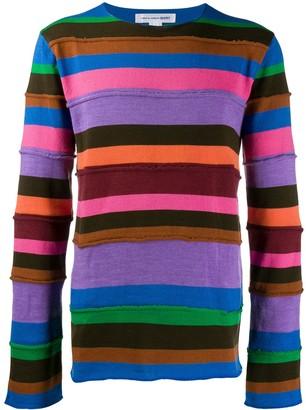 Comme des Garçons Shirt Striped Panel Jumper