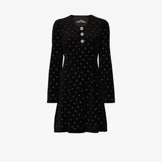 Marc Jacobs Paris crystal studded velvet dress